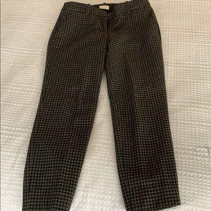 Houndstooth wool dress pants